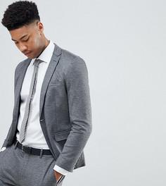 Трикотажный пиджак зауженного кроя Selected Homme TALL - Серый