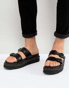Черные сандалии Dr Martens - Черный