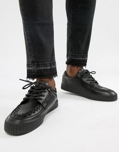 Кроссовки с круглым носком T.U.K Vegan EZC - Черный