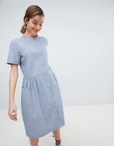 Платье-рубашка в полоску Selected - Синий