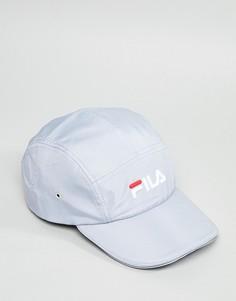 Серая 5-панельная кепка с логотипом Fila Parker - Серый
