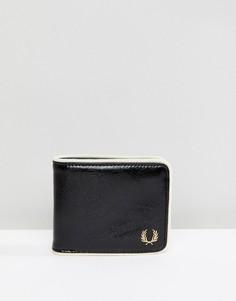 Черный классический бумажник с окантовкой Fred Perry - Черный