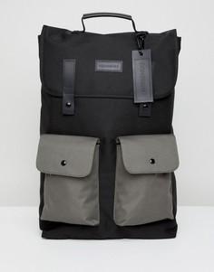 Черный рюкзак с контрастными карманами Consigned - Черный