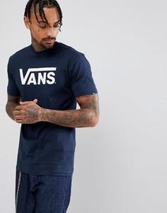 Темно-синяя футболка с логотипом Vans Classic VGGGNAV - Темно-синий