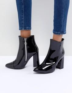 Виниловые ботинки Sisley - Черный