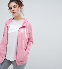 Розовый спортивный худи на молнии Nike Plus - Розовый