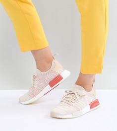 Женские трикотажные кроссовки кремового цвета adidas Originals NMD R1 Stealth - Белый