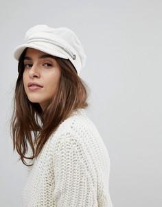Белая вельветовая шапка Brixton - Белый