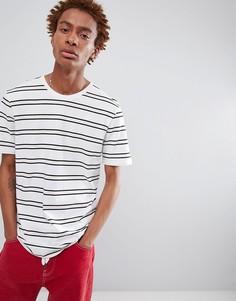 Белая футболка с полосками в стиле ретро Nike SB AJ3957-100 - Белый