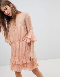 Платье мини Stevie May Dreams - Оранжевый