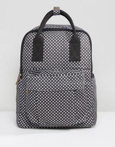 Рюкзак со звездами и передним карманом Qupid - Черный