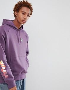 Фиолетовый худи с принтом на рукаве Nike SB 886088-517 - Фиолетовый