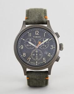 Часы с хронографом и ремешком оливкового цвета Timex TW2R60200 Expedition - Зеленый