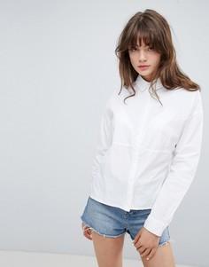 Рубашка со вставками и боковыми разрезами Native Youth - Белый