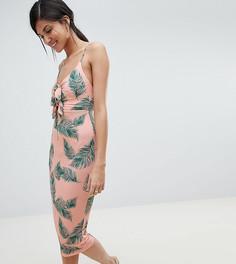 Облегающее платье миди с принтом ASOS DESIGN Tall - Мульти