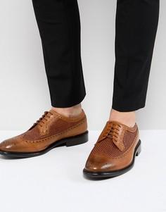 Светло-коричневые кожаные броги PS Paul Smith Malloy - Рыжий