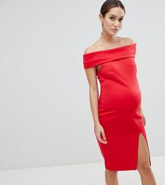 Платье-футляр с разрезом Flounce London Maternity - Красный