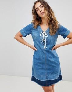Свободное джинсовое платье Pepe Jeans - Синий