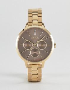 Золотистые часы с хронографом BOSS By Hugo Boss 1502422 Symphony - Золотой