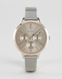 Серебристые часы с хронографом BOSS By Hugo Boss 1502423 Symphony - Серебряный