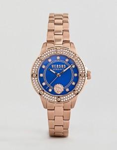 Золотисто-розовые часы с кристаллами Versus Versace South Horizons S2905 - 33 мм - Золотой