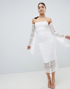 Платье миди бандо Club L - Белый