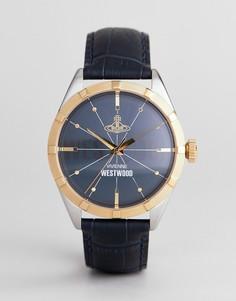Часы с темно-синим кожаным ремешком Vivienne Westwood VV195NVNV Conduit - Темно-синий