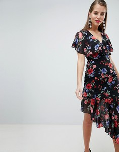 Платье с асимметричным краем и принтом Lipsy - Мульти
