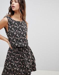 Платье Y.A.S Flowa Rush - Черный