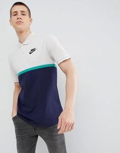 Поло темно-синего цвета в стиле колор блок Nike Matchup 886507-072 - Темно-синий
