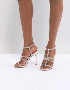 Босоножки на каблуке со стразами Lipsy - Розовый