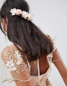 Заколка для волос с цветочной отделкой ASOS DESIGN - Розовый