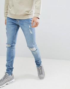 Синие джинсы скинни Criminal Damage - Синий