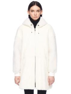 Фактурное пальто из овчины Meteo BY Yves Salomon