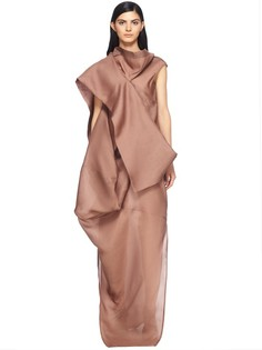 Объёмное платье из шёлка Rick Owens