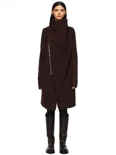 Кашемировое пальто сложного кроя Rick Owens