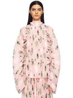 Блуза сложного кроя с декором рюшами Kenzo