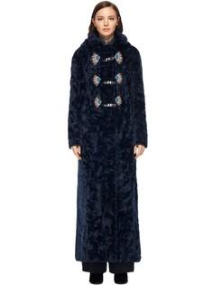 Пальто-дафлкот с декором Peter Pilotto