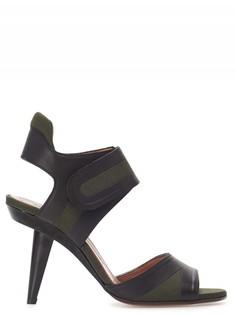 Комбинированные босоножки на фигурном каблуке Marni