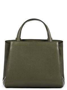 Лаконичная сумка из плотной фактурной кожи Valextra