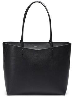 Вместительная кожаная сумка со съемным клатчем Valextra
