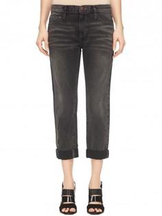 Укороченные джинсы с декоративными потертостями Current/Elliott