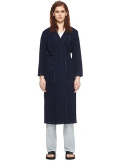 Удлиненное пальто из хлопка Mm6 Maison Margiela