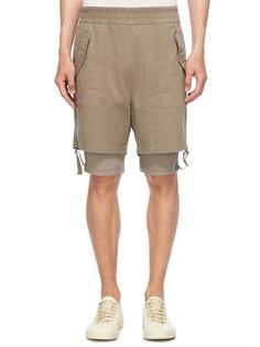 Комбинированные шорты из хлопка Helmut Lang