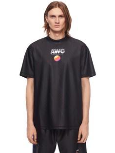 Футболка из эластичной ткани Alexander Wang