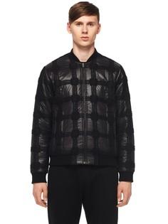 Утепеленная куртка-бомбер с декором Alexander Wang