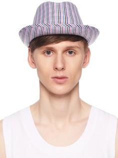 Шляпа из хлопка с принтом Comme DES Garcons