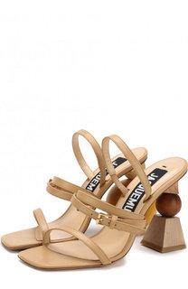 Кожаные босоножки на фигурном каблуке Jacquemus