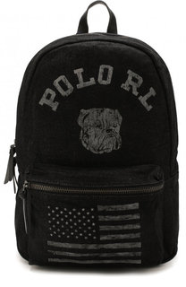 Текстильный рюкзак с внешним карманом на молнии Polo Ralph Lauren