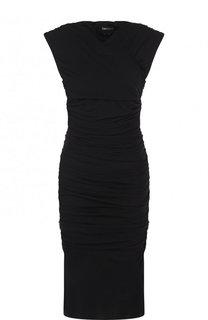 Однотонное приталенное платье из вискозы Tom Ford